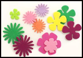Flors de goma Eva