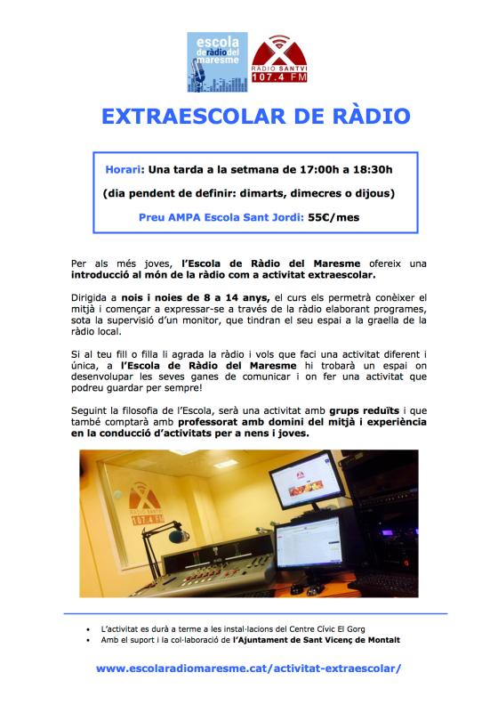 FLYER EXTRAESCOLAR ERM_Escola Sant Jordi_SVM
